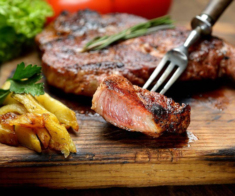 la carne está hecha a la perfección