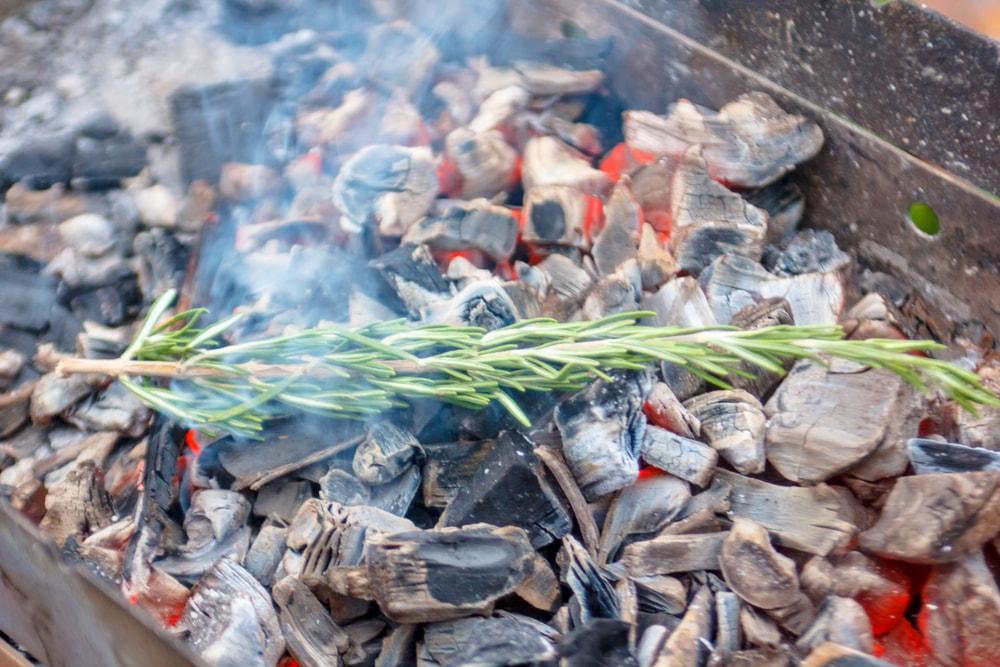 cómo encender una barbacoa con carbón y carbones aromáticos