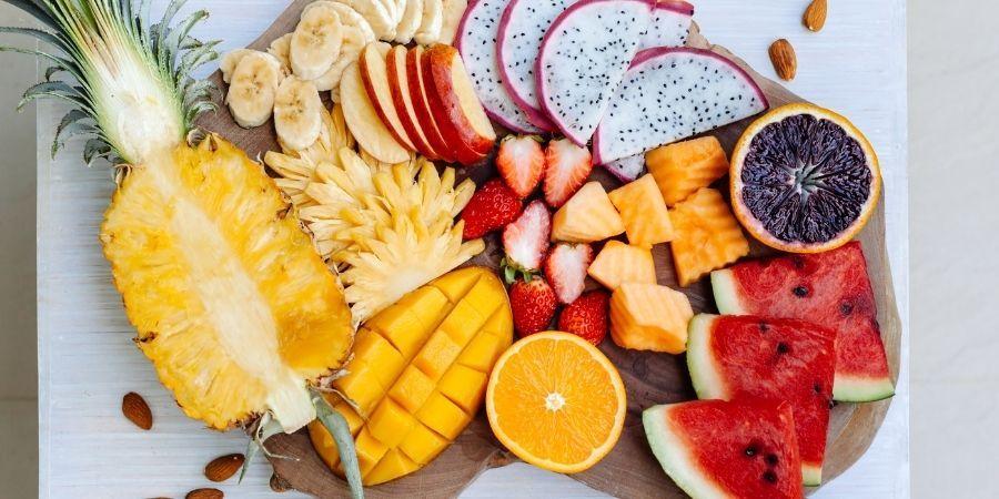 frutas tropicales para acompañar barbacoa de cordero