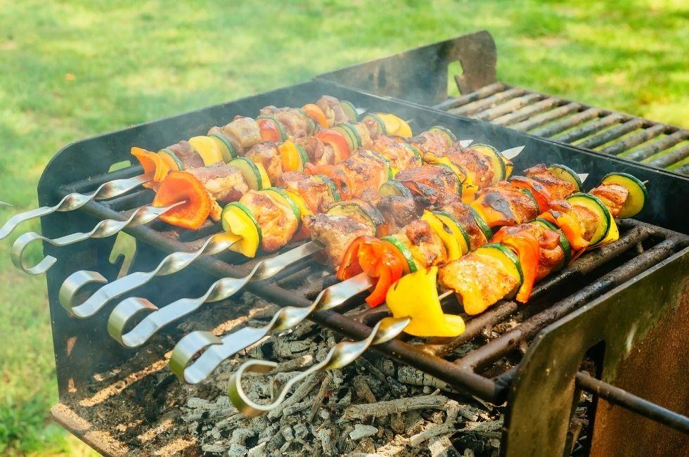 verduras asadas en la barbacoa
