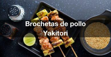 Receta de Brochetas de pollo Yakitori a la barbacoa
