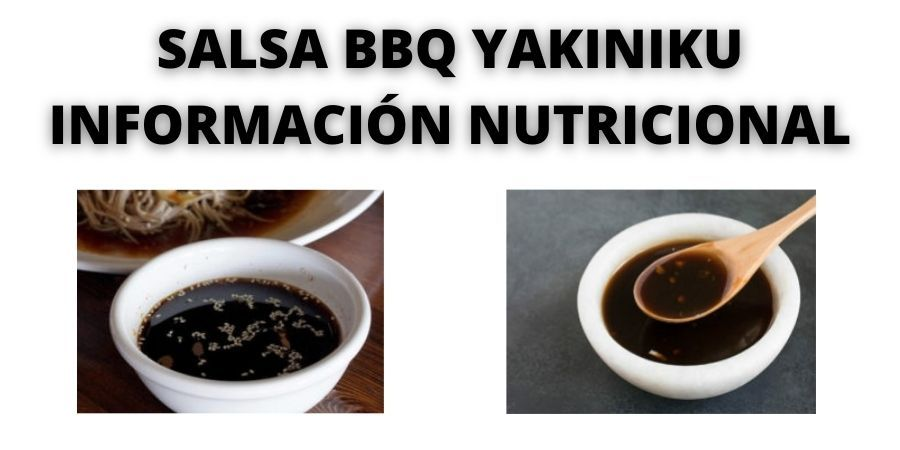 salsa barbacoa yakiniku informacion nutricional